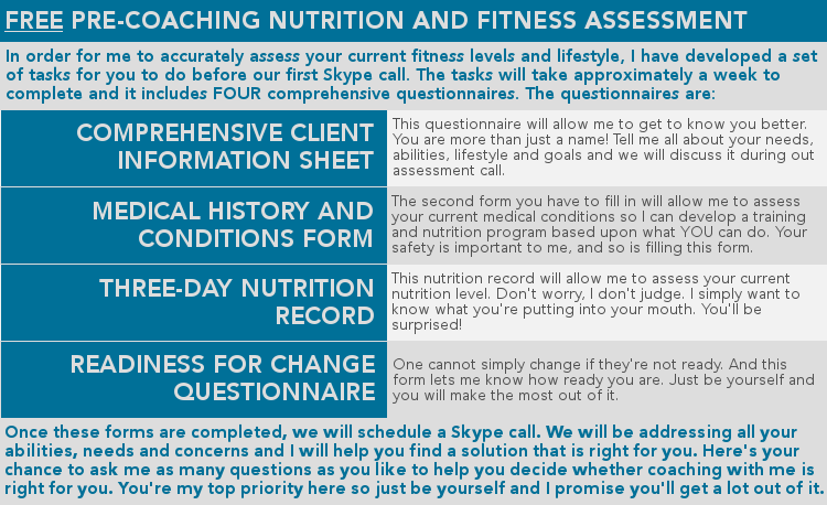 Pre-coaching assessment