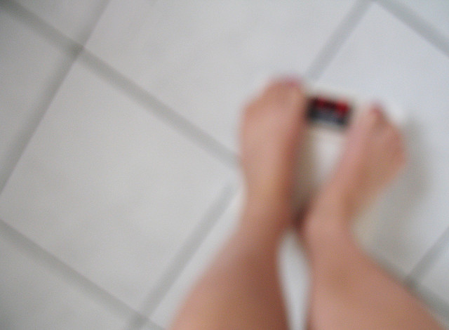 blurred weighing